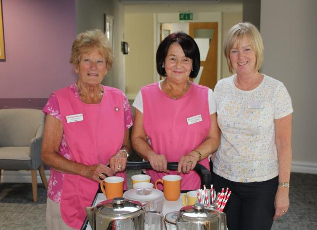 From left; volunteers Margaret Nyland, June Stotton and Angela Monaghan