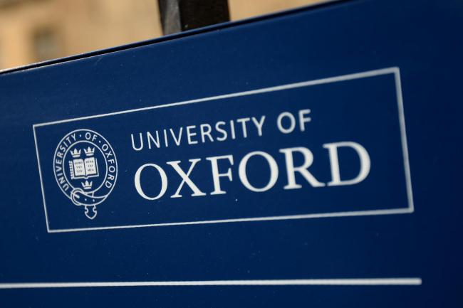An Oxford University sign, as the institution has topped an international ranking for the fourth year in a row