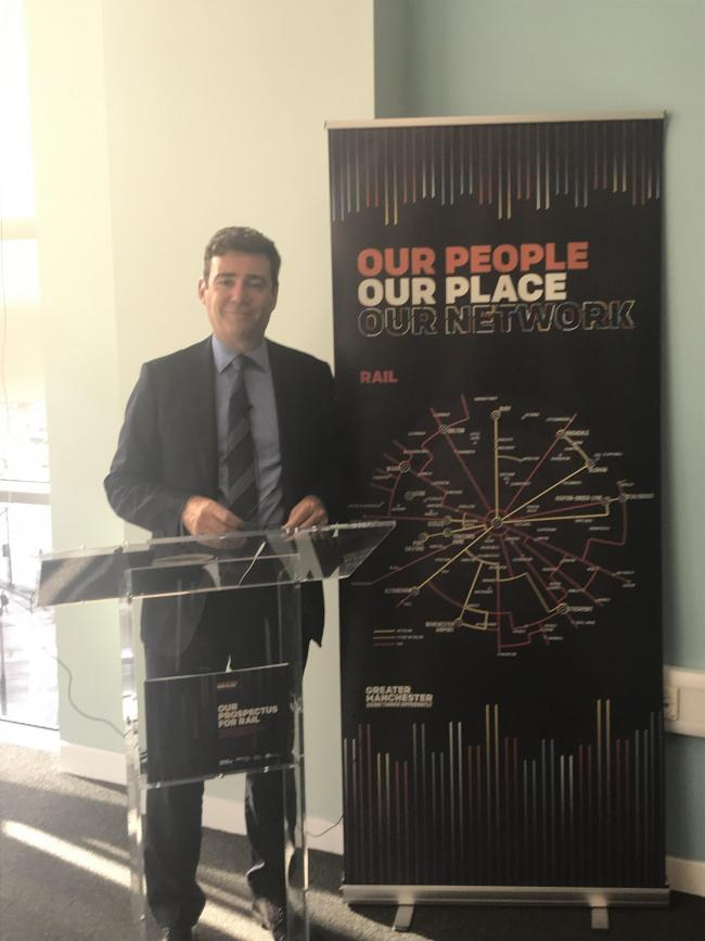 Greater Manchester mayor Andy Burnham announced the plans at a press conference