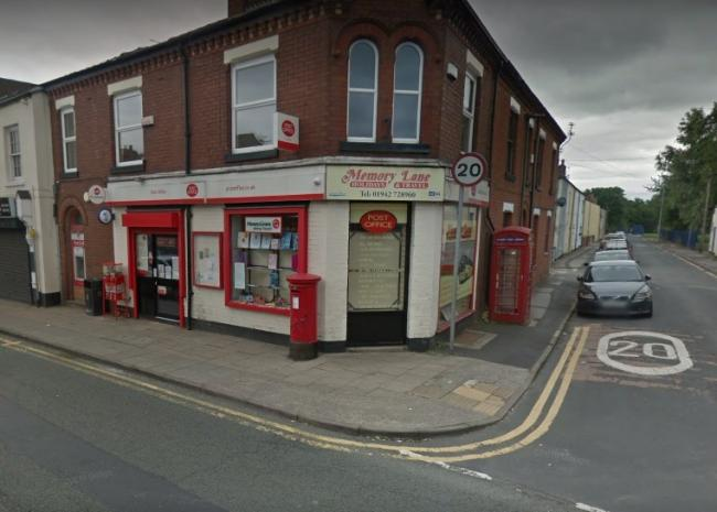 The post office on Heath Street in Golborne. Picture: Google Maps