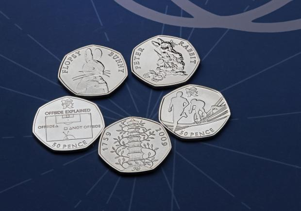 Leigh Journal: The rarest 50p coins. Credit: Royal Mint/PA Wire