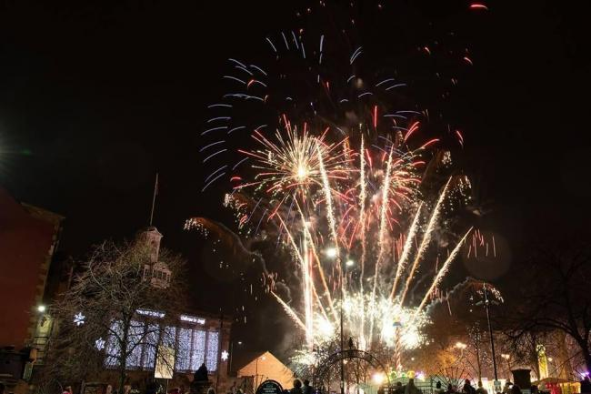 Fireworks sparkle in the sky at the Christmas event in Leigh last year