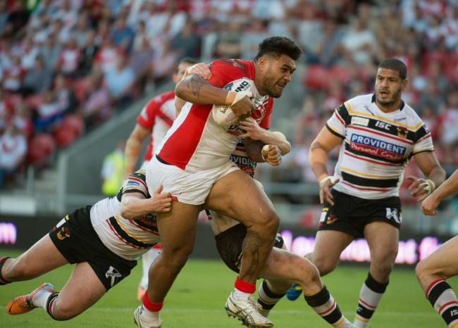 Mose Masoe in his playing days with St Helens. Picture: Bernard Platt