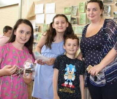 Mum Toni Whittaker with her children, Kayla, India and William, who attended the Sacred Heart Catholic Primary summer school