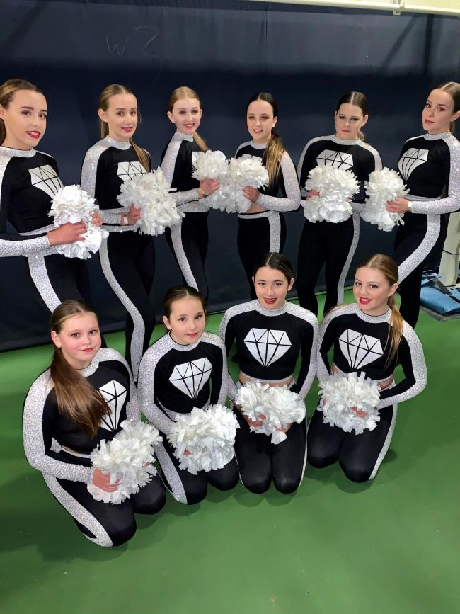 Gemstone Cheer and Dance Diamonds team members