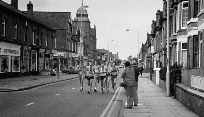 Runners competing in Leigh Harriers' 10 Mile Road Race in 1984                                                                                                                                                            Picture: Wigan and Leigh Arch