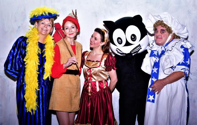 The cast from pantomime Dick Whittington and His Cat