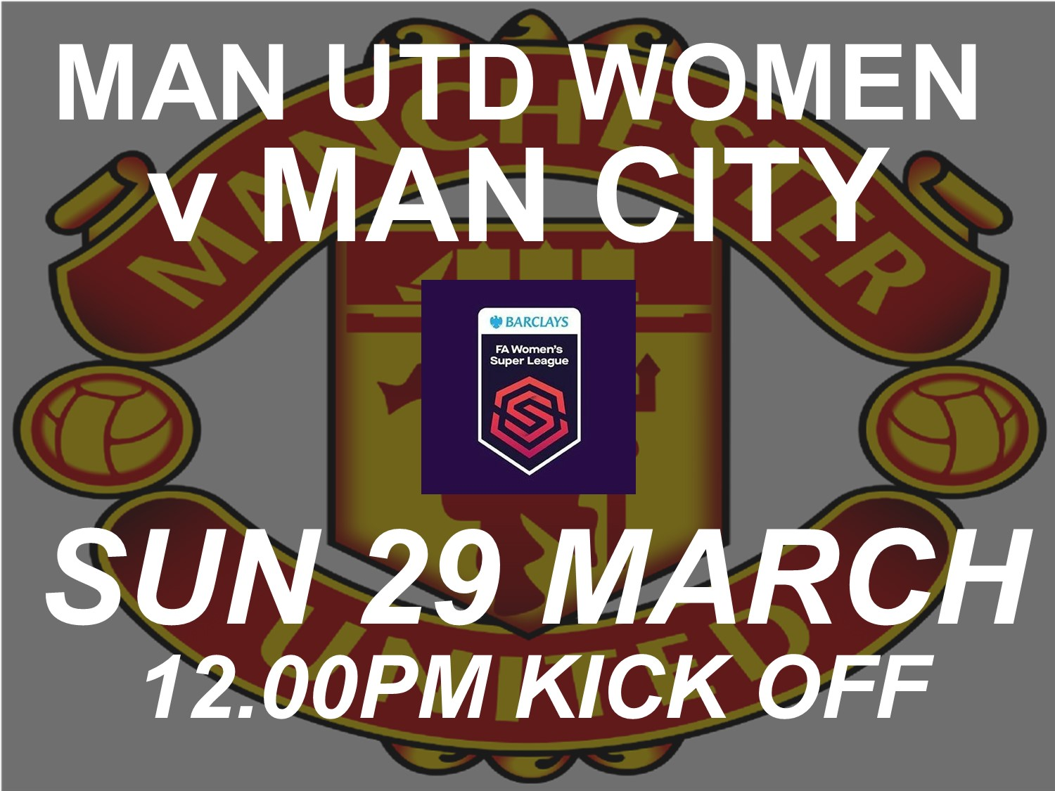 Manchester United Women v Manchester City