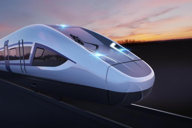 Artist's impression of an HS2 train. Picture: PA