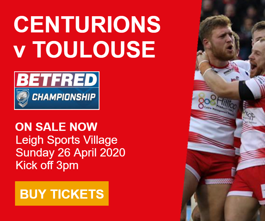 Leigh Centurions v Toulouse Olympique