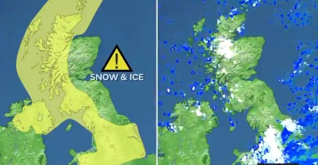 Hail, sleet and wintry showers on the way. Credit: Met Office