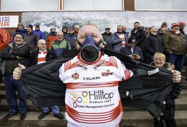 Leigh fans at Hull KR. Pic: Allan McKenzie/SWpix.com