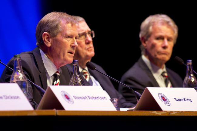 Dave King has handed control of the Rangers board over to Douglas Park (centre)
