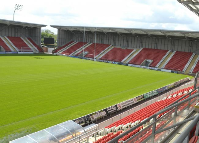 Leigh Sports Village, home to Leigh Centurions Rugby League Club whose fixtures are currently suspended due to Covid-19 and the UK lockdown