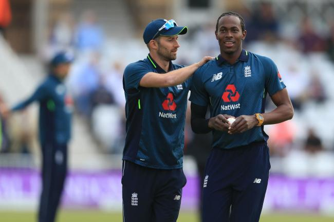Mark Wood and Jofra Archer had a bowl on Thursday morning