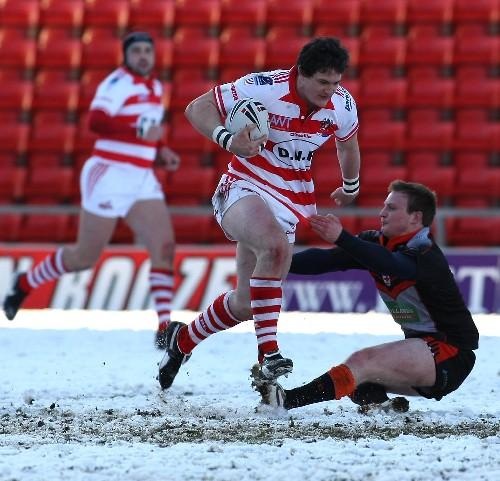 Steve Maden, who crossed for two tries against Oldham