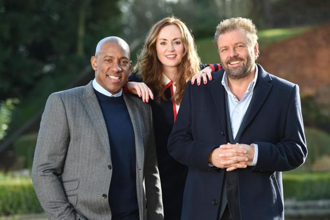 Dion Dublin, Martel Maxwell and Martin Roberts