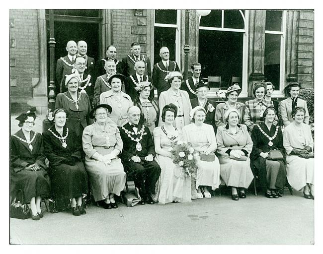 The photograph was taken outside Pennington Hall in 1952 Picture: Wigan and Leigh Archives and Local Studies