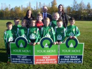 The under-9s team in their new kit