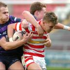 Leigh Journal: Leigh Centurions in action during their pre-season friendly win over Wigan Warriors