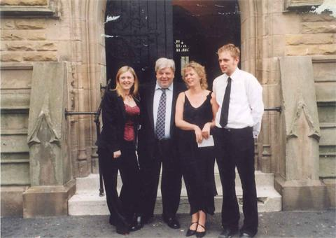 TRIBUTES have been paid to Bedford High School head teacher Stephen Preston, pictured here with his family.
