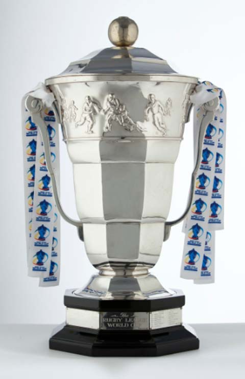 Leigh Journal: Rugby League World Cup trophy