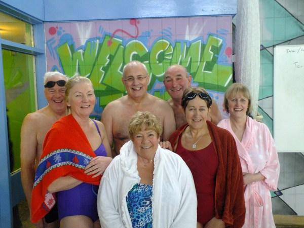 Leigh Rotary and Inner Wheel members enjoyed their charity plunge.