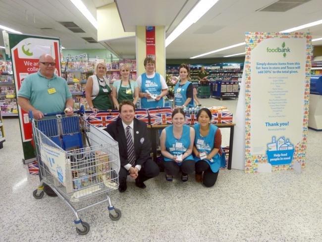 Tesco Atherton Shoppers Donate Food To People In Need