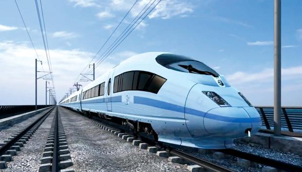 An impression of what HS2 may look like