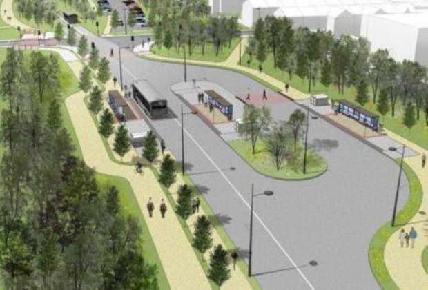 Leigh Journal: An artist's impression of the busway