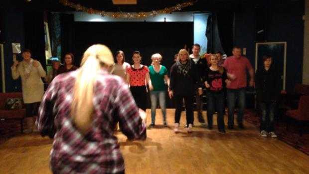 Rehearsals at the Turnpike Community Theatre