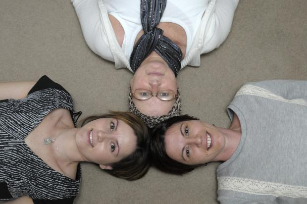 Leigh Journal: Marie Hupton and Leanne Stevens with their mum Betty Waterworth