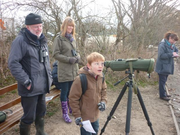 Young birders learn the ropes at Pennington Flash