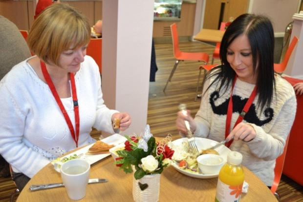 Leigh Journal: Diners enjoy the food on offer at the new cafe