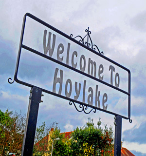 Leigh Journal: Hoylake sign