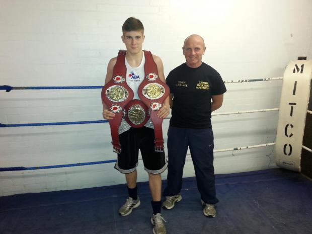 Matty Burgess with coach Adrian Fleming