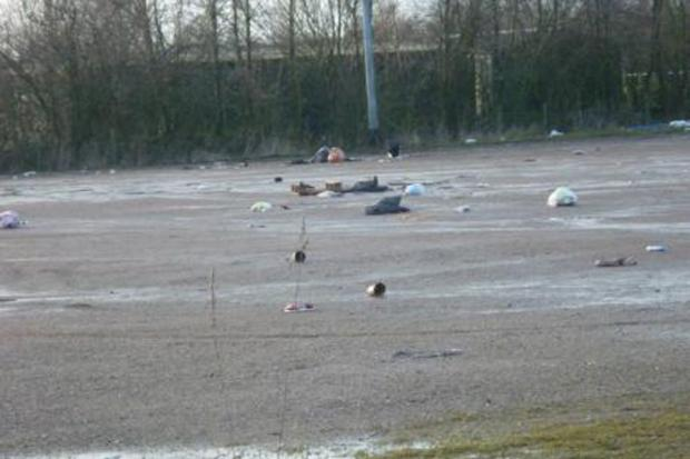 The Leigh RUFC club after the travellers were forced to leave the site