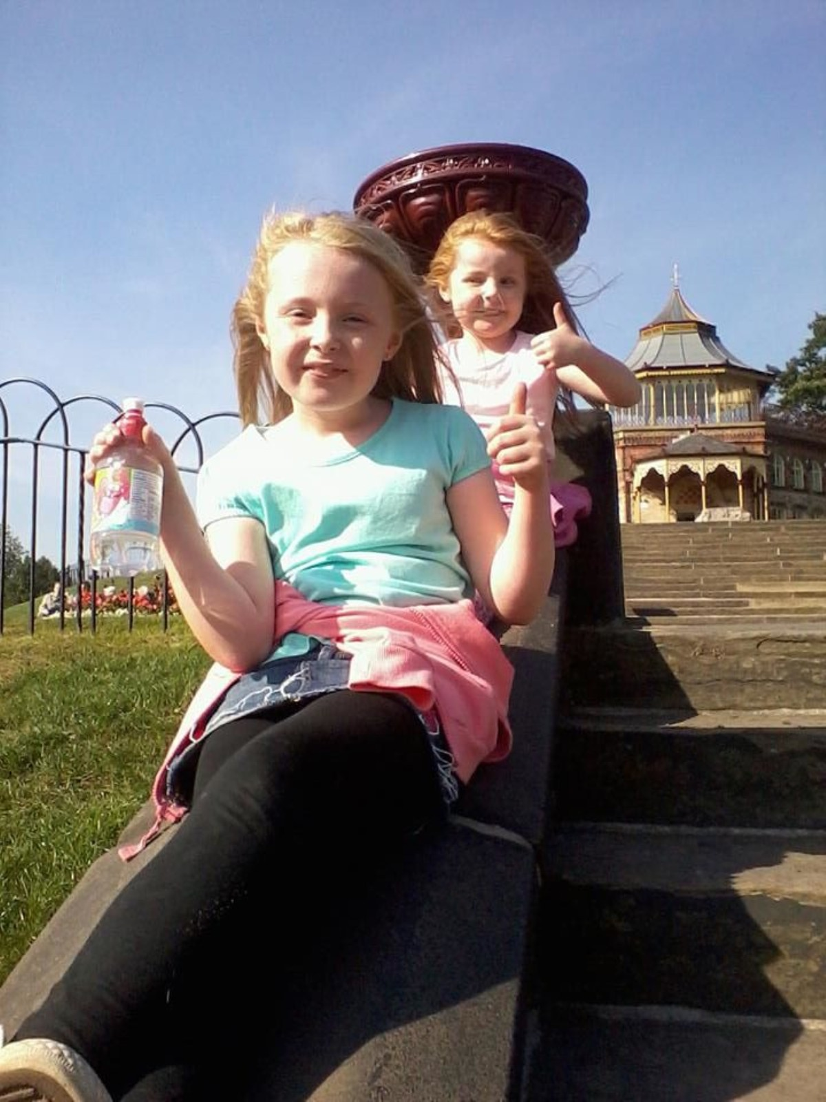 Aimee Williams is holding a vintage tea party with her little sister Lucy, aged six