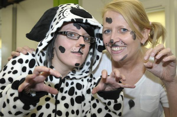 Leigh Journal: Amy Morris and Sue Whalley as dalmatians