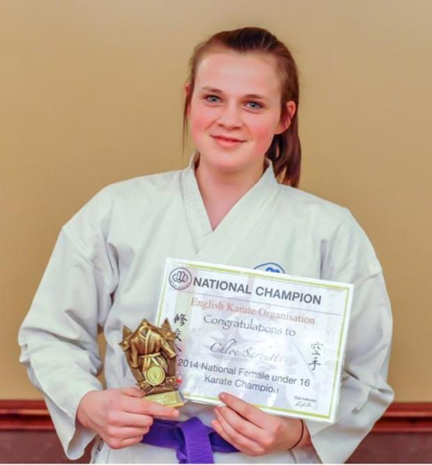 Leigh Journal: Chloe crowned kumite champion