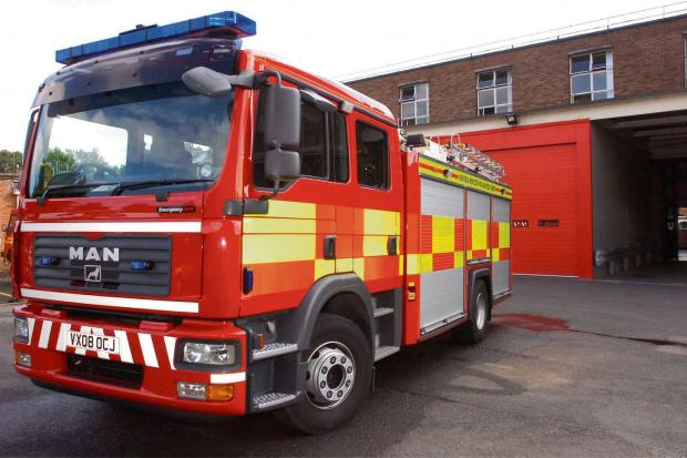 Fire crews tackled the blaze