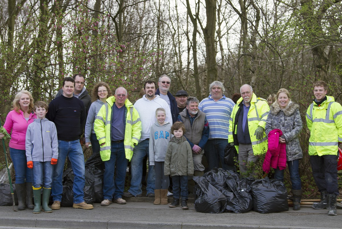 Leigh woodland given spring clean ready for bluebells