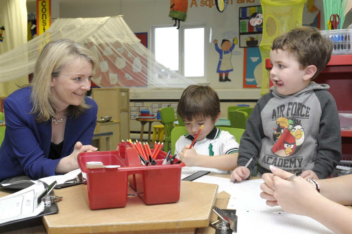 Education minister pays visit to Leigh nursery school
