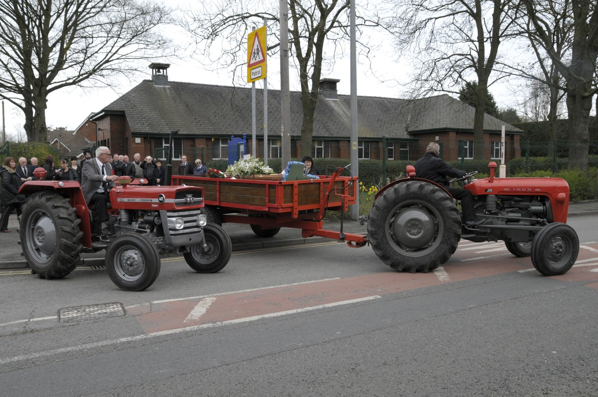 Astley tractor fanatic makes last journey in fitting manner