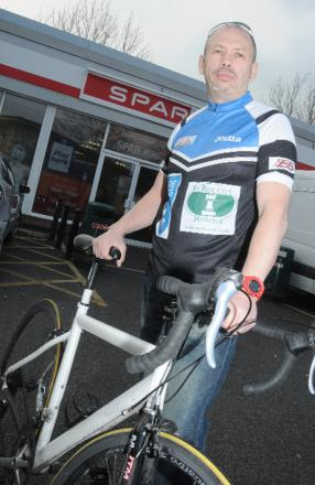 Ian Cummings will notch up more than 500 miles on his bike, thanks to the sponsorship of Alfred Jones