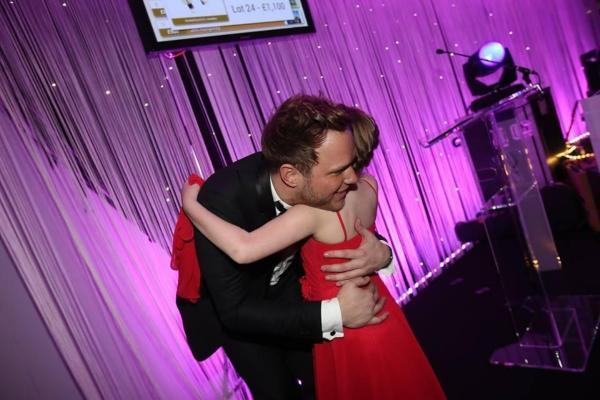 Leigh Journal: Ellie was thrilled to have a hug and a kiss from Olly Murs