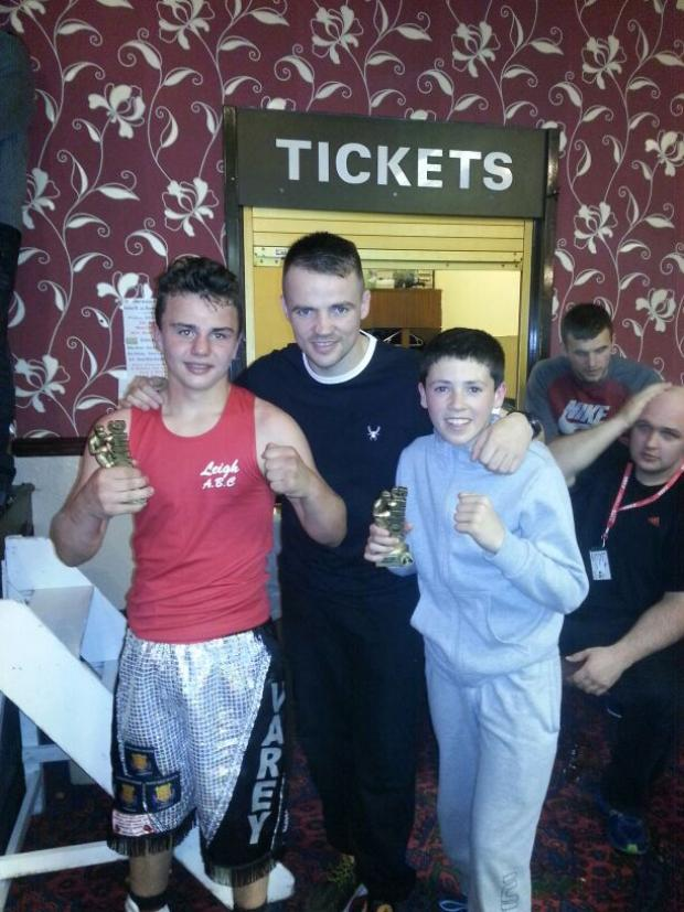 Leigh Journal: Shaun Michael Varey and Callum Ryder with top Pro Fankie Gavin