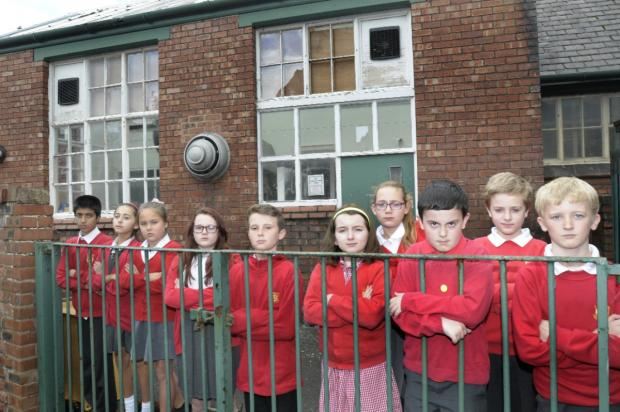 Pupils from Leigh CE Junior School