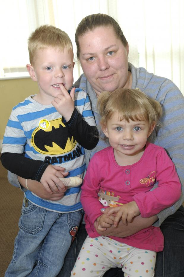 Leigh Journal: Amelia Isherwood with her hero brother Jamie and mum Natalie