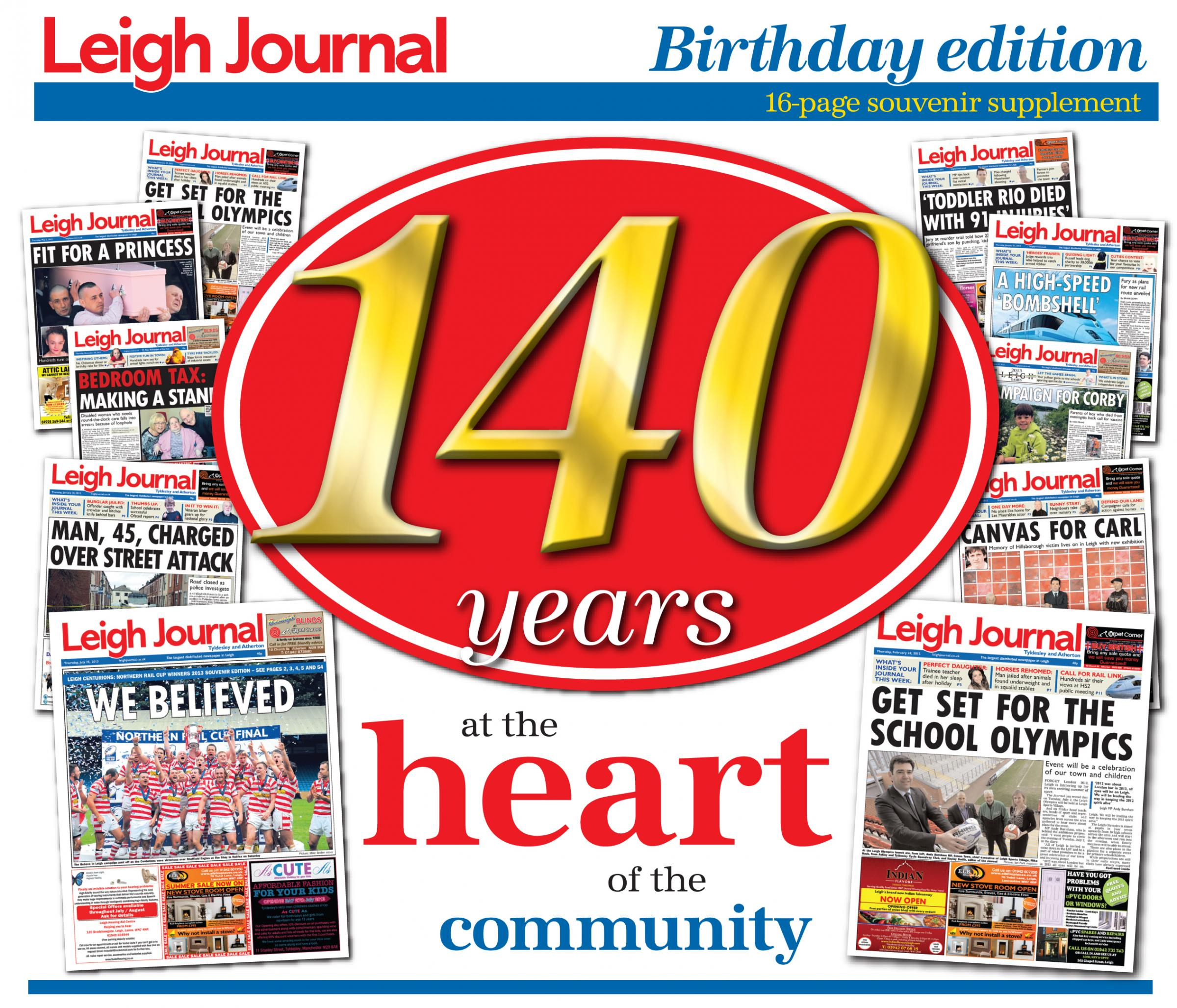 Leigh Journal celebrates 140th birthday